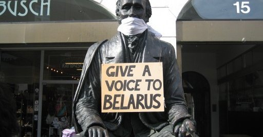 JEF Free Belarus Action – as silent as a loud voice for democracy