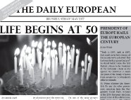 "European century or European decline? Read ""The Daily European"" from 2057!"